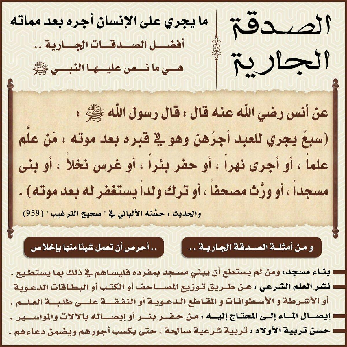 ما هي الصدقة الجارية وما الذي يصل الميت من أعمال الحي نور الاسلام